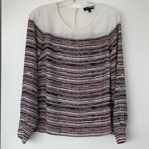 Lord & Taylor Striped Blouse